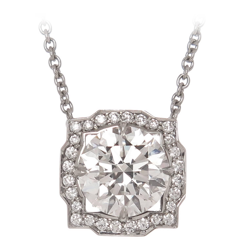 Harry winston diamond platinum solitaire pendant necklace harry harry winston diamond platinum solitaire pendant necklace aloadofball Images