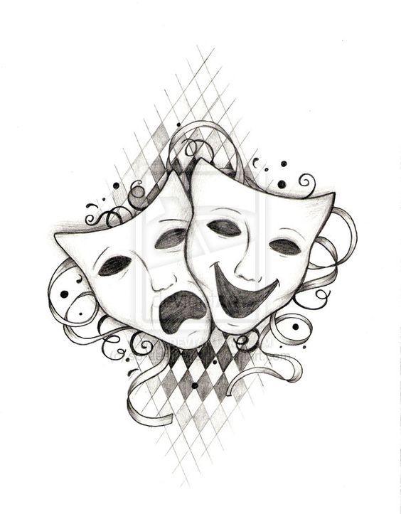 promozione speciale vendita calda stile attraente greek theatre masks tattoo - Pesquisa Google … | teatro ...