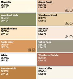 Spanish Colonial Color Palette Color Palette Spanish