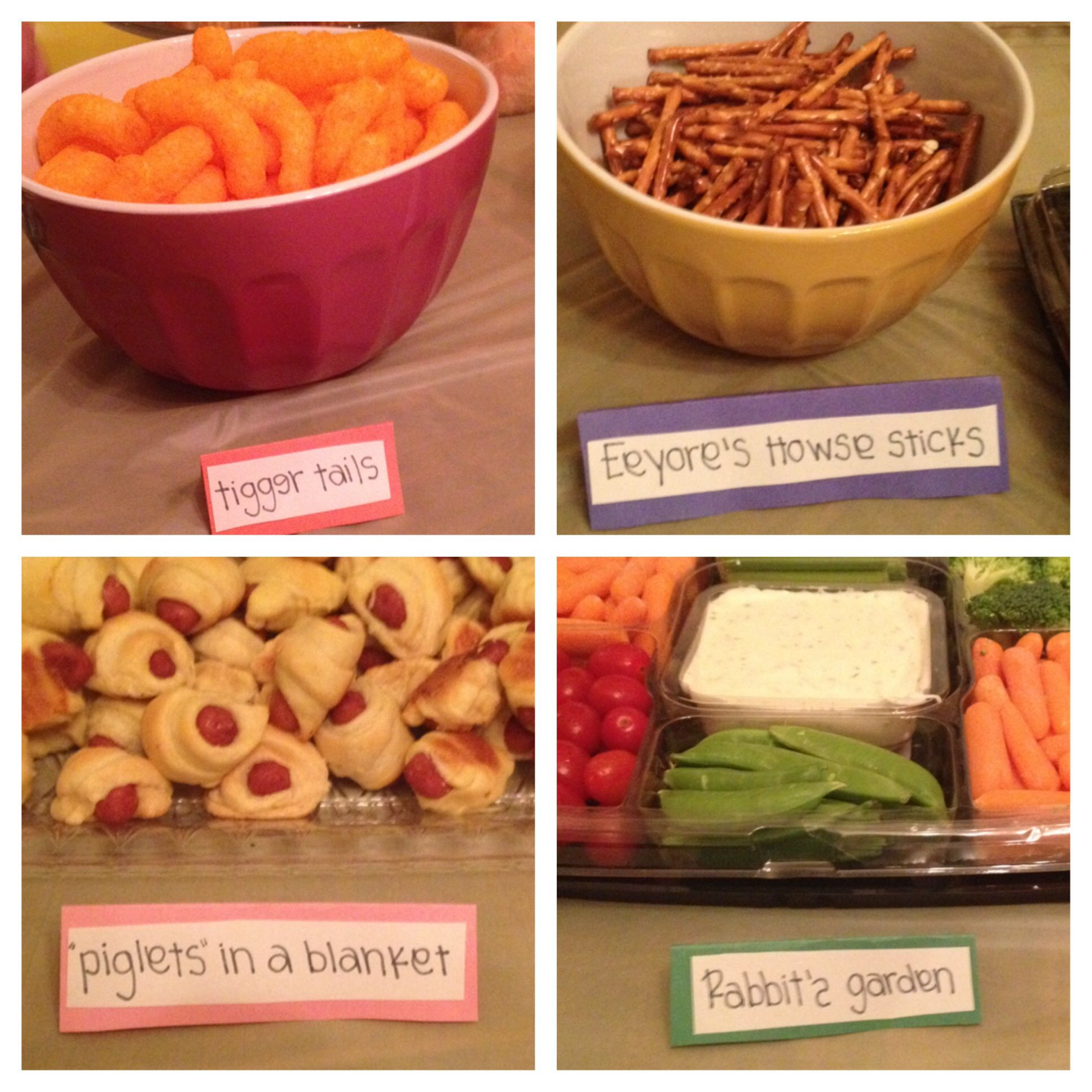 Winnie The Pooh Party Food Savory Foods Piglet Punch Owl S Eyes