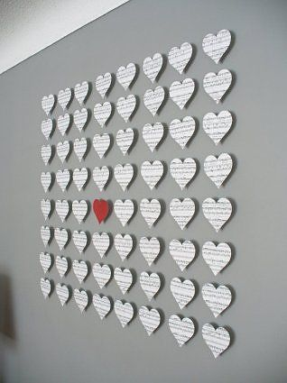 Heart Wall Decor couldn't be more fitting for my roommate and i, hearts made of