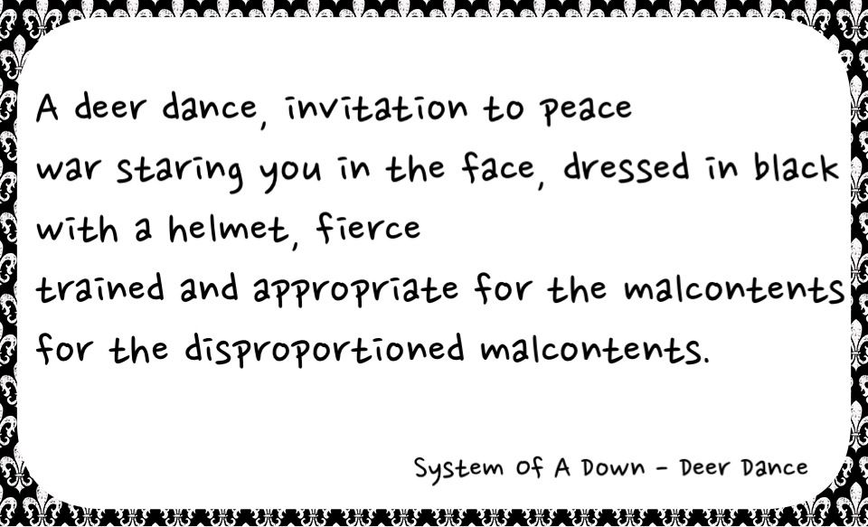 Lyric down rodeo lyrics : System of a Down - Deer Dance lyrics | Cool Quotes and Kick-ass ...