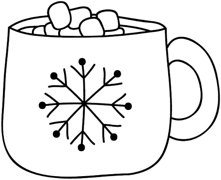 Hot Cocoa Doodle Template 001 | Hot chocolate art, Hot ...
