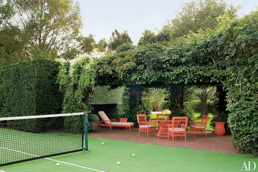 e48aa523aa9c4 The tennis court at investor and C. Wonder founder Christopher Burch s  Southampton home