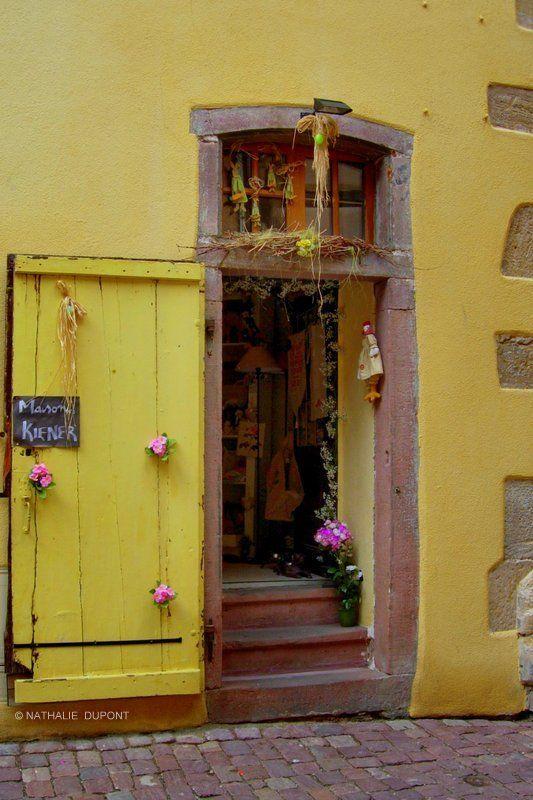Ciel De Nuages Photos Maison Jaune Alsace