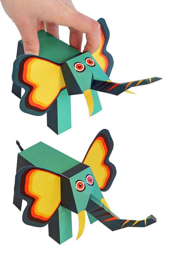 Jungle Animals Paper Toys Diy Paper Craft Kit 3d Paper Animals