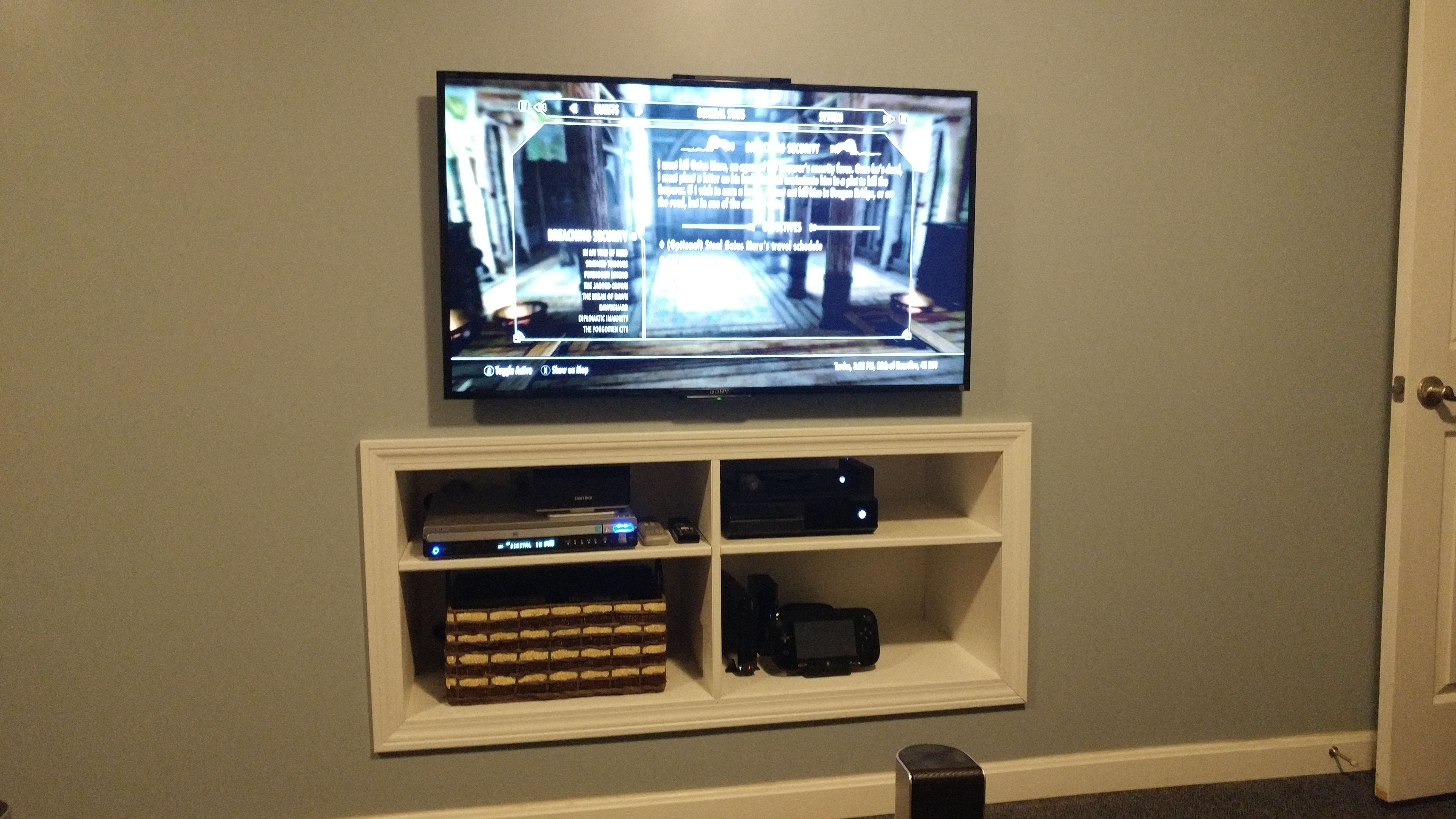 Recessed Entertainment Alcove Living Room Entertainment Center