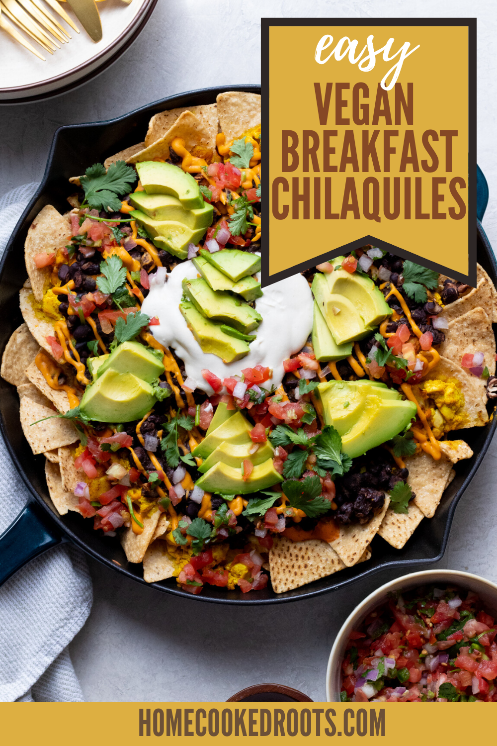 Vegan Chilaquiles With Silken Tofu Scramble In 2020 Tofu Scramble Vegan Breakfast Easy Vegan Instant Pot Recipes