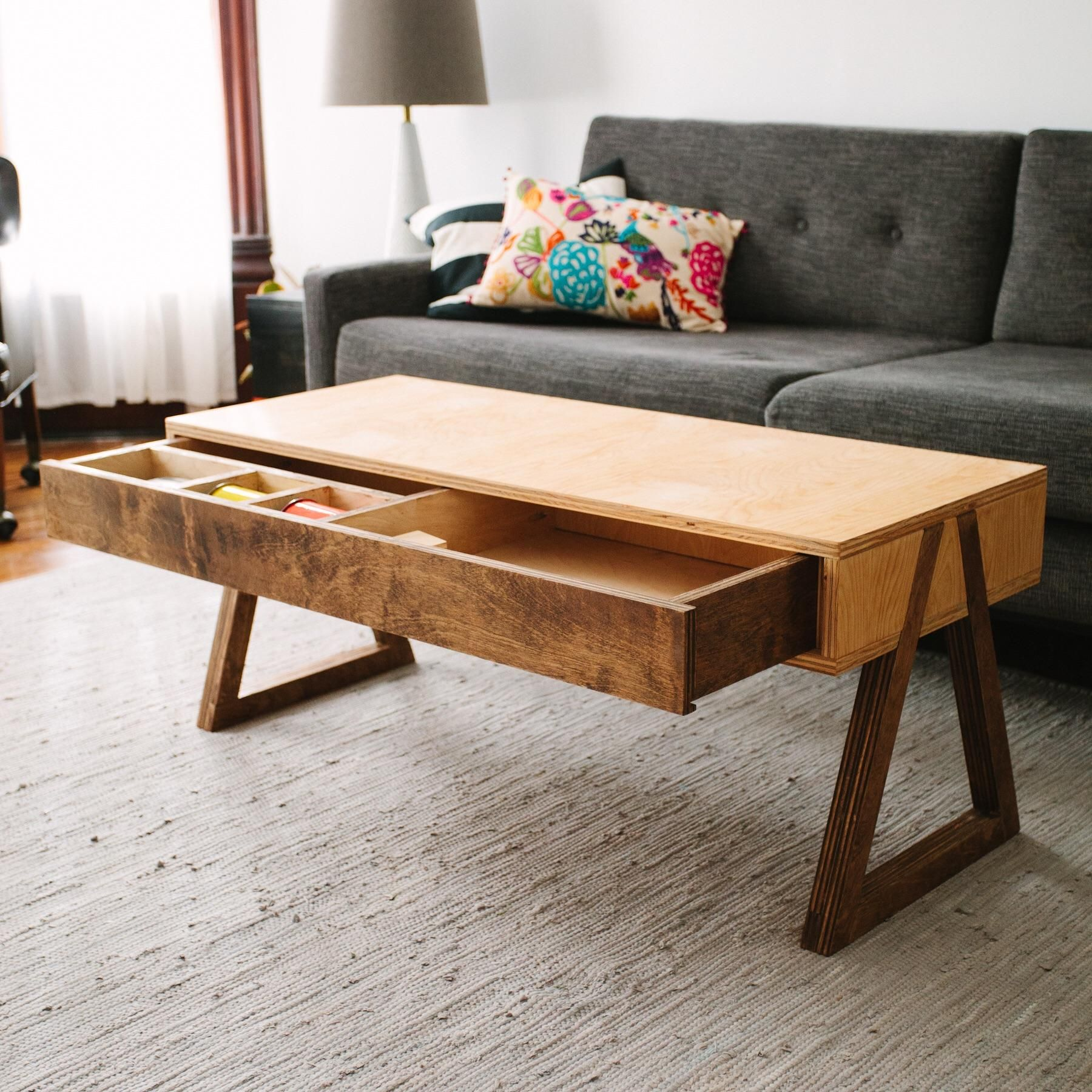 Coffee Table Made From A Sheet Of Plywood Http Ift Tt 2xevnzy