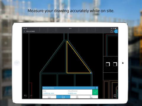 AutoCAD 360 ipad app (free) drawing and drafting mobile