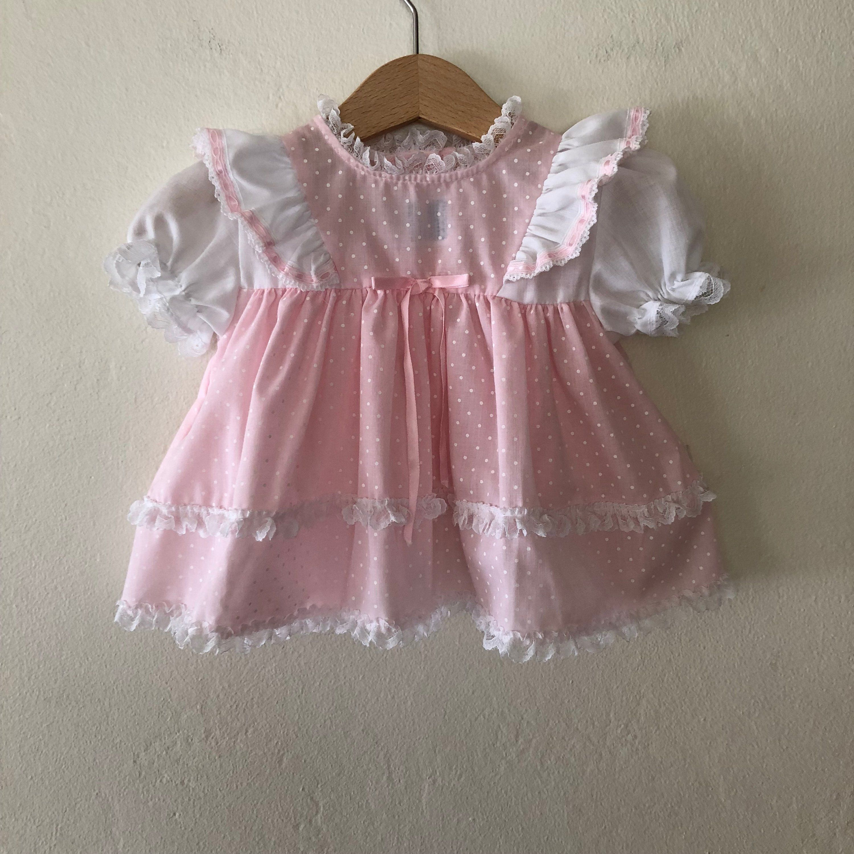 Vintage Baby Girls Dress Vintage Baby Girls Pink Dress Vintage Baby Dress Size 6 12 Months Baby Girl Pink Dress Vintage Baby Dresses Vintage Baby Girl