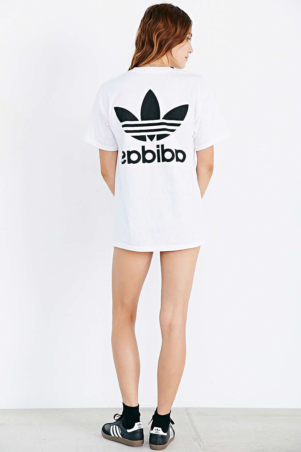 adidas Originals Double Logo Tee - Urban Outfitters