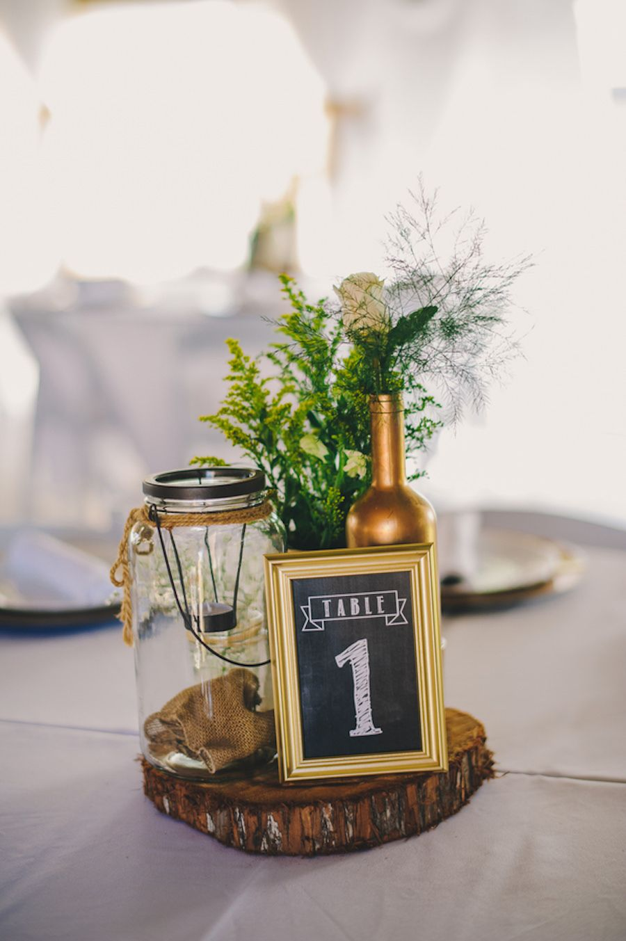 Green Gold And White Plant City Wedding Wedding Reception