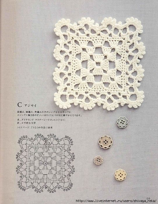 Crochet Motif and possible edging | crochet | Pinterest | Cuadrados ...