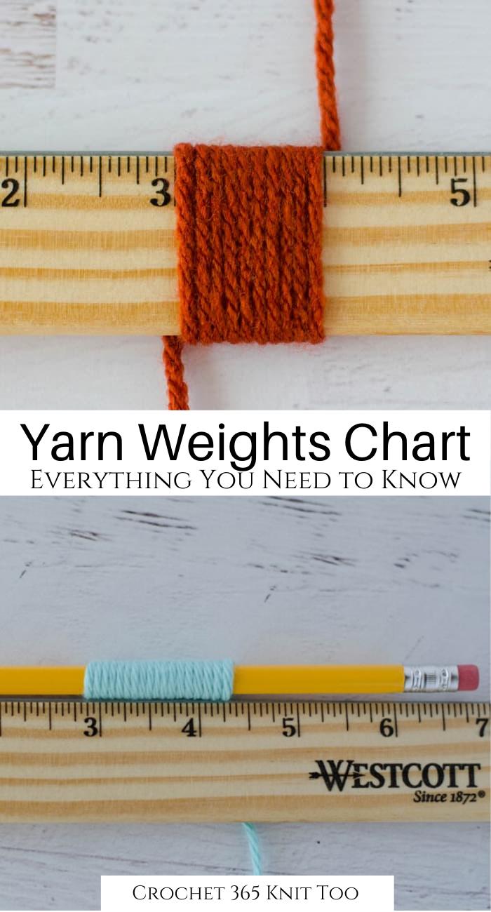 Photo of Yarn Weights Chart – Crochet 365 Knit Too