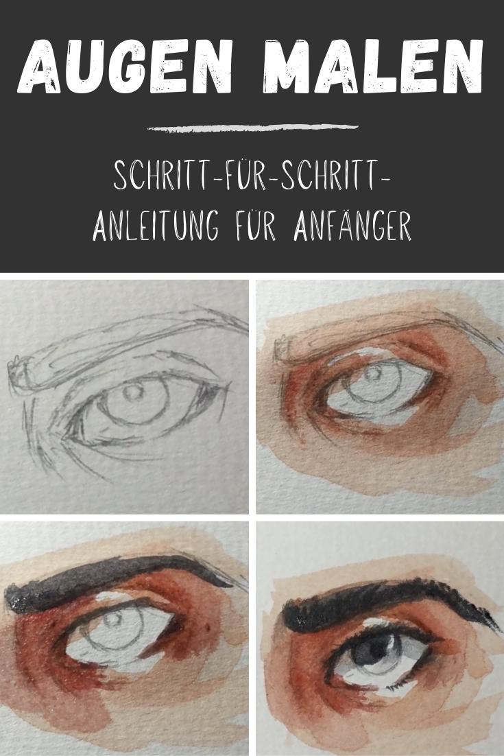 Auge malen: Einfache Anleitung für Anfänger