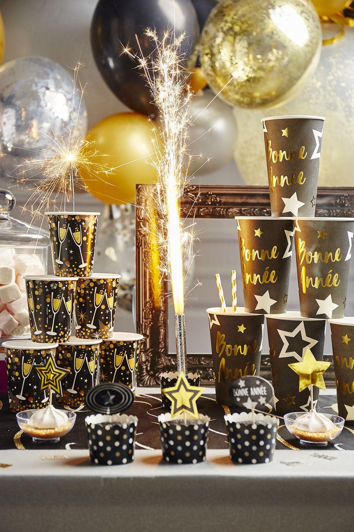 Decoration De Salle Pour Nouvel An buffet nouvel an noir et doré | déco jour de l'an