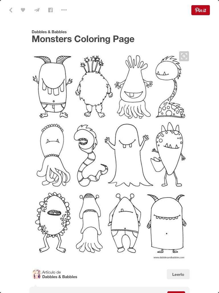 Ausmalbilder Monster Sommer Regen Beschäftigung The kids will love this scary monster coloring page