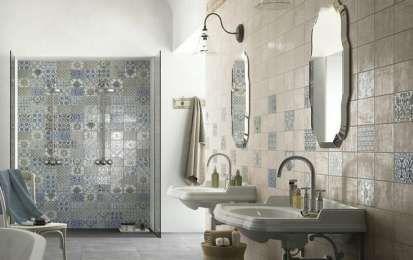 Piastrelle per il bagno rustico ciglie bathroom