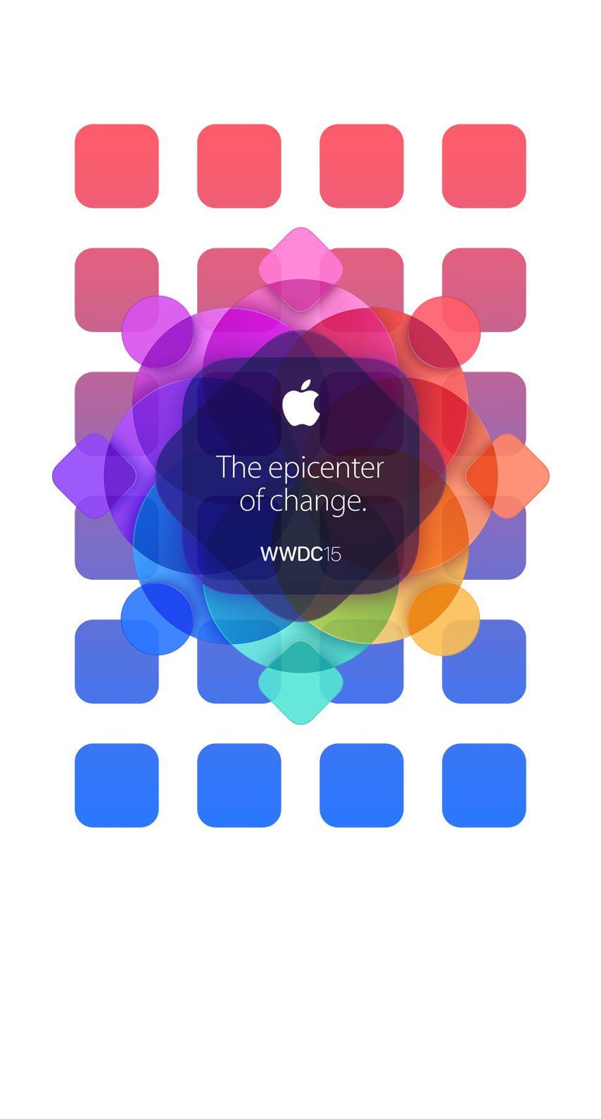 » Apple logo colorful WWDC15 shelfwallpaper.sc iPhone6