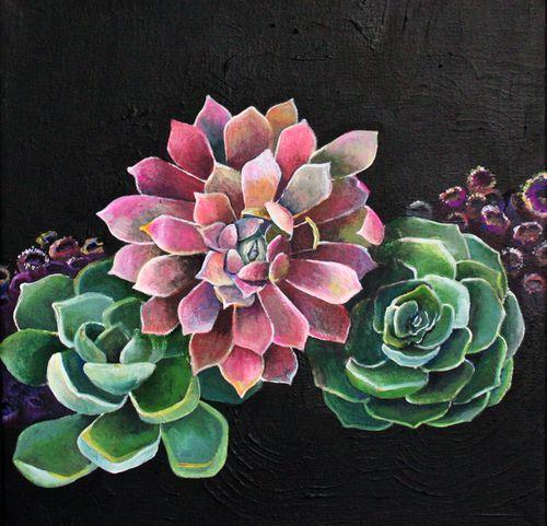 succulents succulents succulents painting