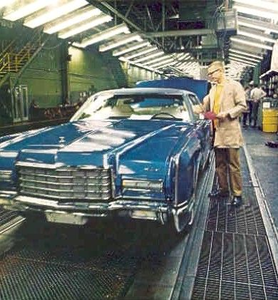 1972 Lincoln Continental Assembly Line In Wixom Michigan Assembly
