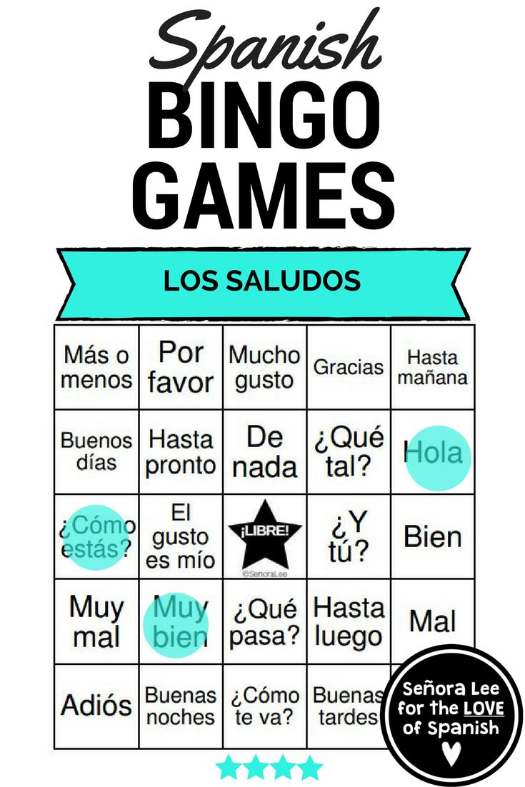 Spanish greetings bingo and vocabulary list los saludos spanish los saludos y las despedidas 40 bingo cards to practice 24 spanish greetings farewells m4hsunfo