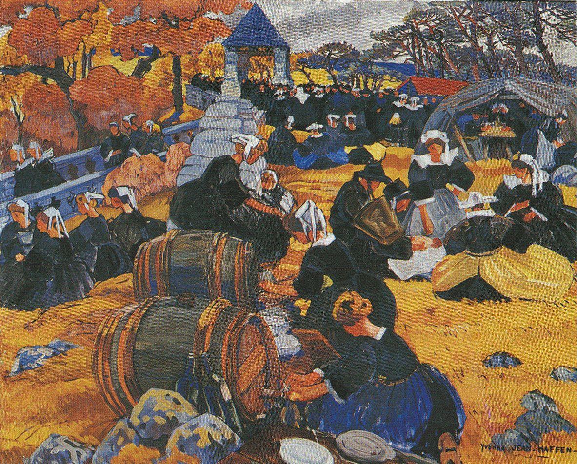 Yvonne Jean HAFFEN | Yvonne | Paysage breton, Tableau peinture et Bretagne