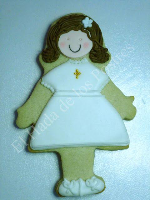 Unas galletitas de muñecas muy finas. | Galletas | Pinterest | Postres