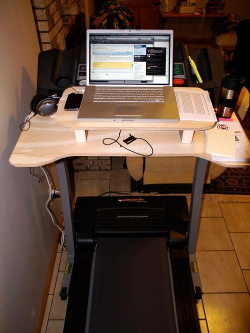 Diy Laptop Desk To Use On A Treadmill