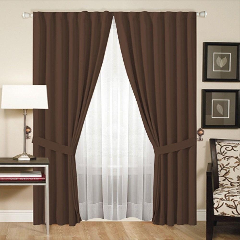 Cortina marrón, ideal para la sala de nuestro hogar. | MODELOS DE
