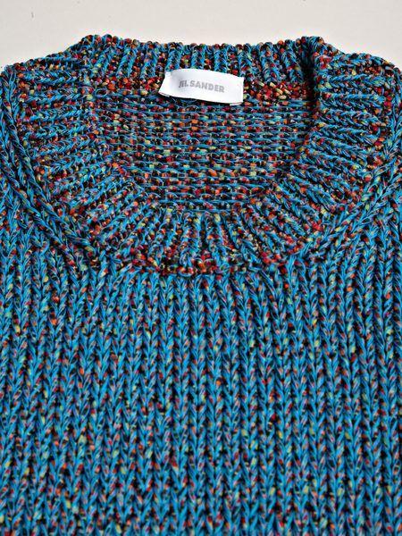 86e9939fb246 Jil Sander Mens Multi Yarn Long Sleeve Sweater in Blue for Men (multi) -  Lyst