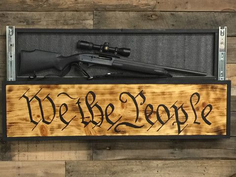 We The People Sign With Hidden Compartment (FREE SHIPPING)