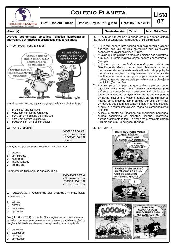 Questoes De Lingua Portuguesa Com Gabarito Com Imagens