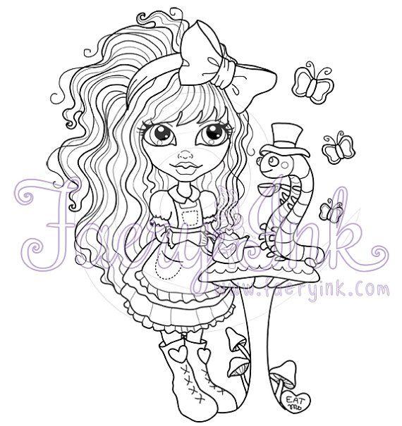 Gabbie Alice in Wonderland Caterpillar Tea Party by FaeryInk ...