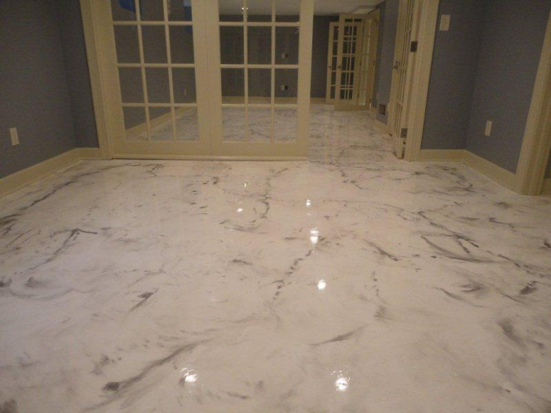 Residential flooring elite crete systems painted