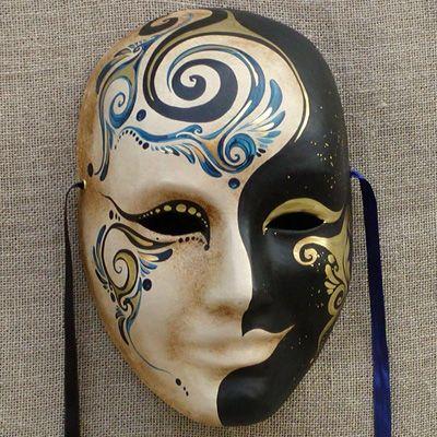 Volto Mask By Ca Macana Venice Italy Venetianmask Tablolar