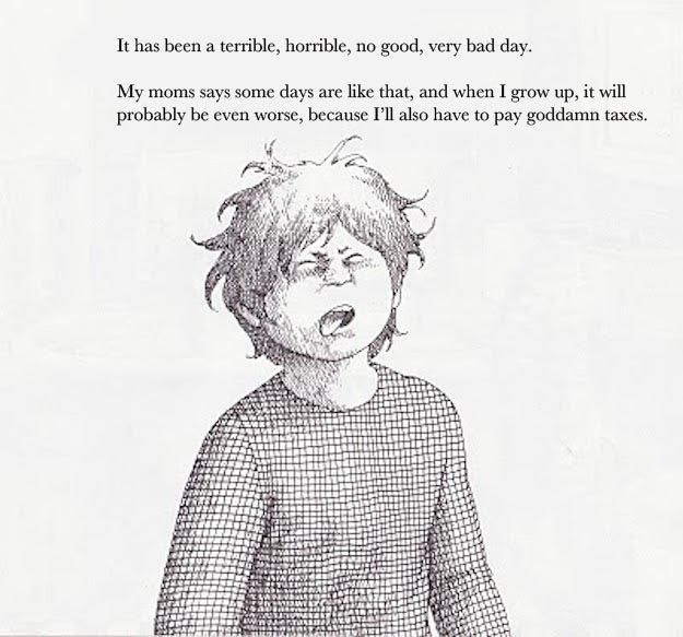 Alexander And The Terrible Horrible No Good Very Bad Day With