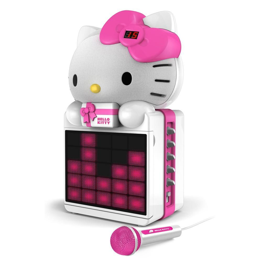 Hello Kitty CD+G Karaoke System with LED Light Show and MP3/MP3+G Streaming-KT2008B #karaokesystem Cd+g Karaoke System with LED Light Show and MP3/MP3+G Streaming, White #karaokesystem