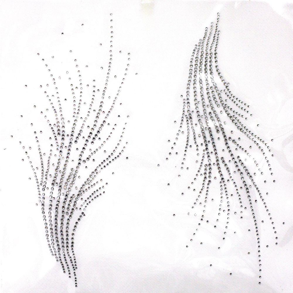 Rhinestone Iron on Transfer Hot fix Motif crystal Fashion Design ...