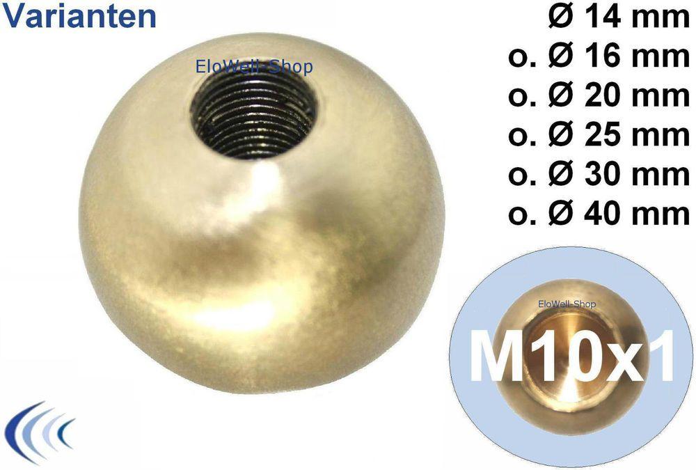 Halbrundknopf M10x1 Messing unbehandelt 34x6 Zier Verschlussknopf B325010-01