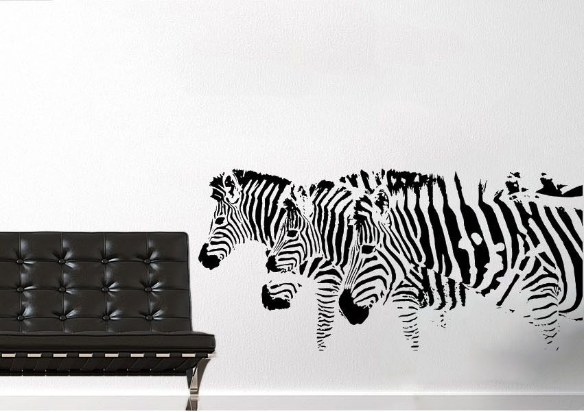On the lookout for an ideal modern for your nursery 3 zebras wall decals