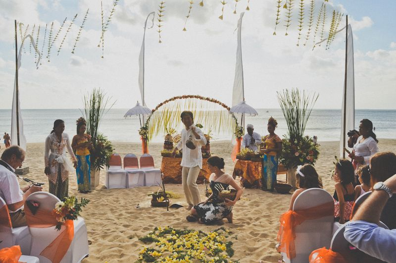 Beach wedding at Bali | by 9AM Photography, Bandung