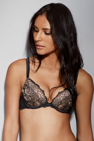 cdc07b3cee47c Buy Cara Luxury Lace Push Up Plunge Bra from the Next UK online shop ...