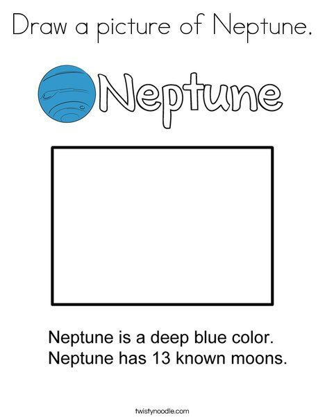 Draw A Picture Of Neptune Coloring Page Twisty Noodle Pictures