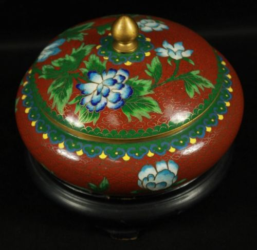 Cloisonne Bowl with Cover | eBay