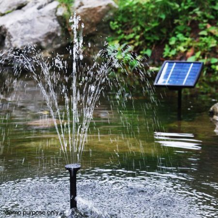 Solar Power Fountain Pond Pool Water Feature Pump Kit
