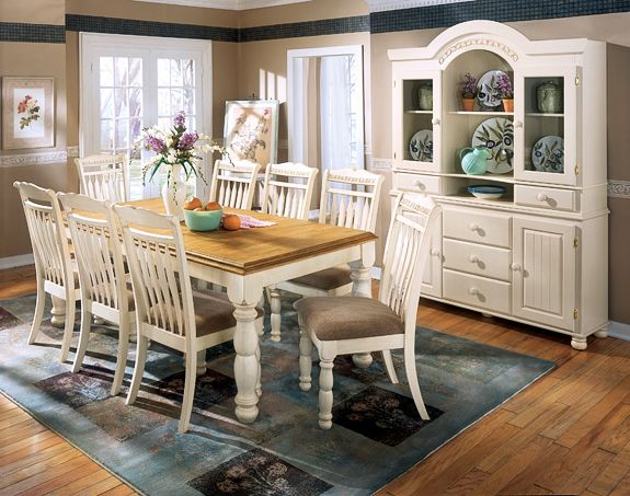 Ordinaire Ashley Furniture, Cottage Retreat Dining Set With Buffet Cabinet