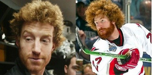 Red Headed Hockey Players Have A Special Place In My Heart Particularly Mike Commodore Of The Detroit Red Wings He Definite Hockey Players Bad Haircut Hockey
