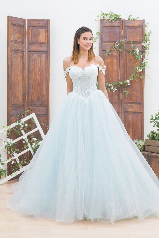 Bluethread bridal custom wedding dresses blue wedding